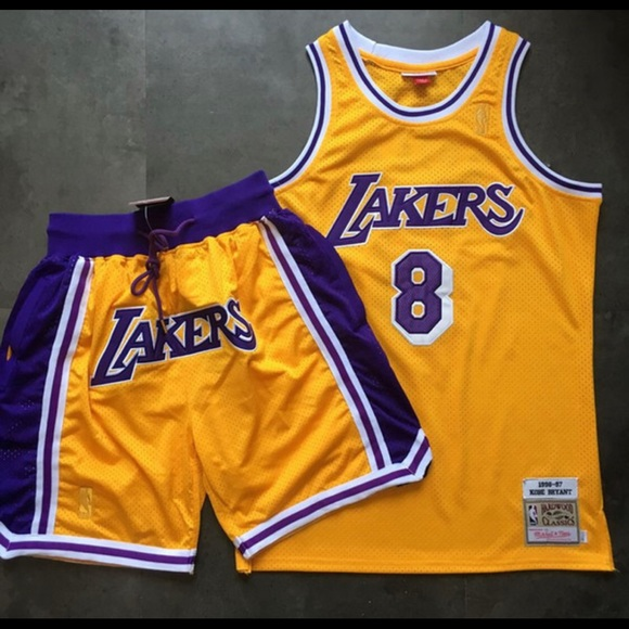Kobe Bryant Lakers Jersey and Shorts